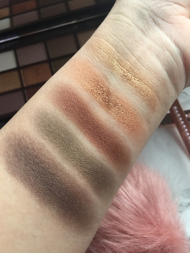 I Heart Makeup Golden Bar Eyeshadow Palette Swatches 2