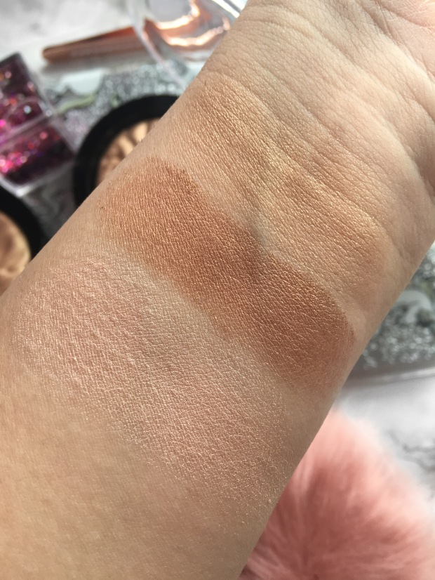 Makeup Revolution Strobe Highlighter Swatches Close Up