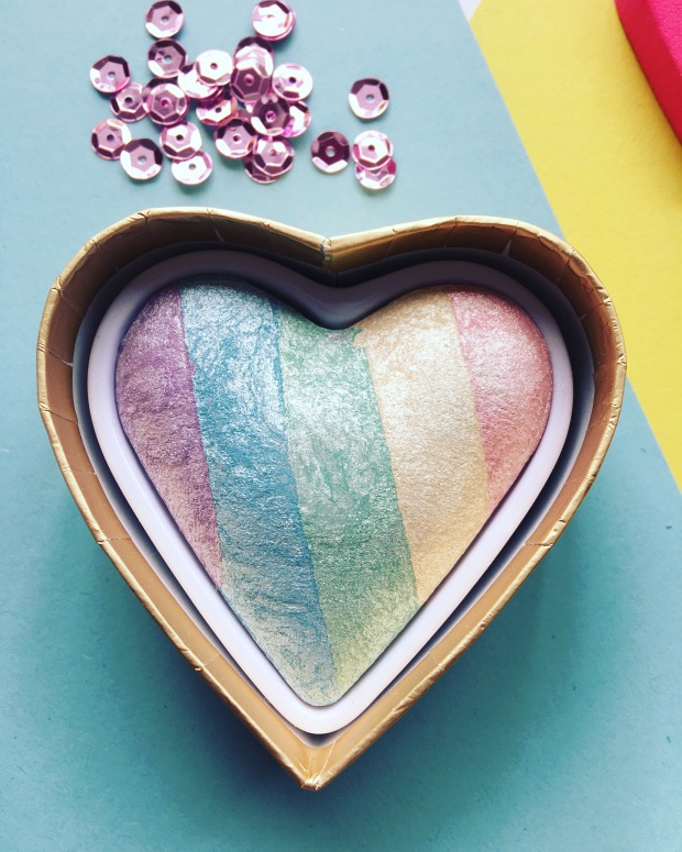 Unicorn Heart Rainbow Highlighter
